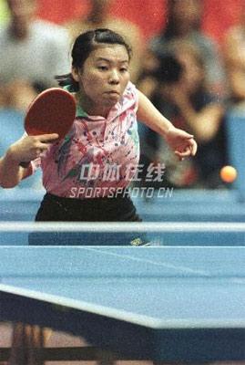 身边的奥运图集- 邓亚萍在比赛中