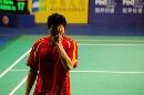 图文:大师杯男单比赛首轮 陈宏输球神情沮丧