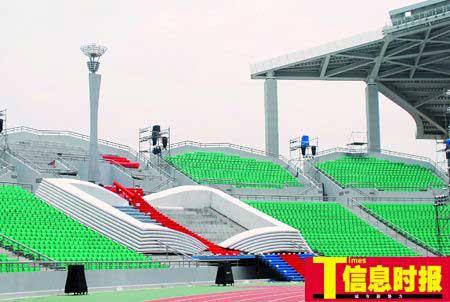 广州大学城中心体育场,7月16日晚第八届大运会火炬将在这里点燃。
