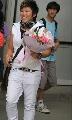 图文:[女足]马晓旭回国集训 个性玫瑰风光依旧