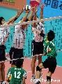 图文:六城会男排决赛武汉VS中国澳门 合力防守