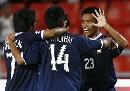 图文:[亚洲杯]泰国2-0阿曼 队友祝贺通甘亚