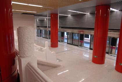 5号线雍和宫车站。贾鹏 摄 (来源:千龙网)