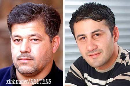 被驻伊美军打死的22岁伊拉克籍摄影记者纳米尔·努尔-艾尔丁(右)和他的40岁的司机赛义德·查马赫。新华社/路透