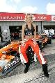 图文:[F1]英国大奖赛美女 赛车服穿了一半