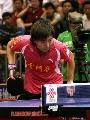 图文:[乒超]第六轮山东1-3深圳 李晓霞比赛中