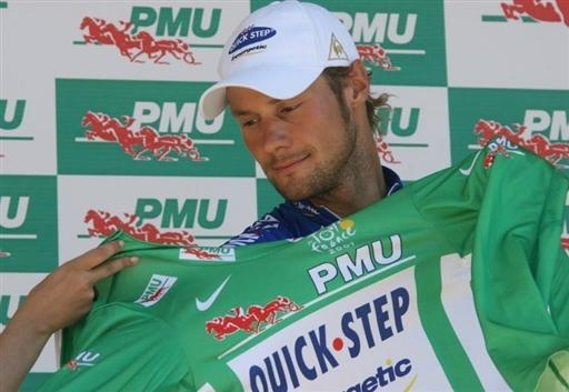 图文:环法第七赛段 布南身披绿衫