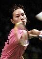 图文:中国羽球大师赛谢杏芳夺冠 全力以赴争冠