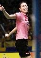 图文:中国羽球大师赛谢杏芳夺冠 获胜后的欣喜