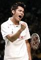 图文:中国羽球大师赛林丹夺冠 这是胜利的怒吼