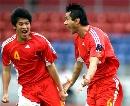 图文:[亚洲杯]中国2-2伊朗 狂放庆祝