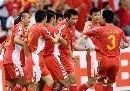 图文:[亚洲杯]中国2-2伊朗 红色涌动
