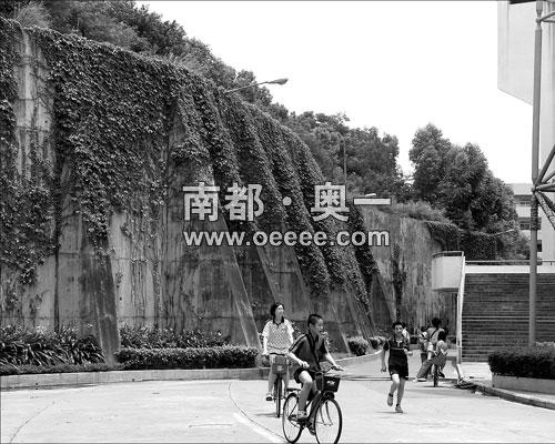 """祸起""""萧墙""""——花都体育中心的一圈挡土墙使体育场馆面临被拍卖命运。"""