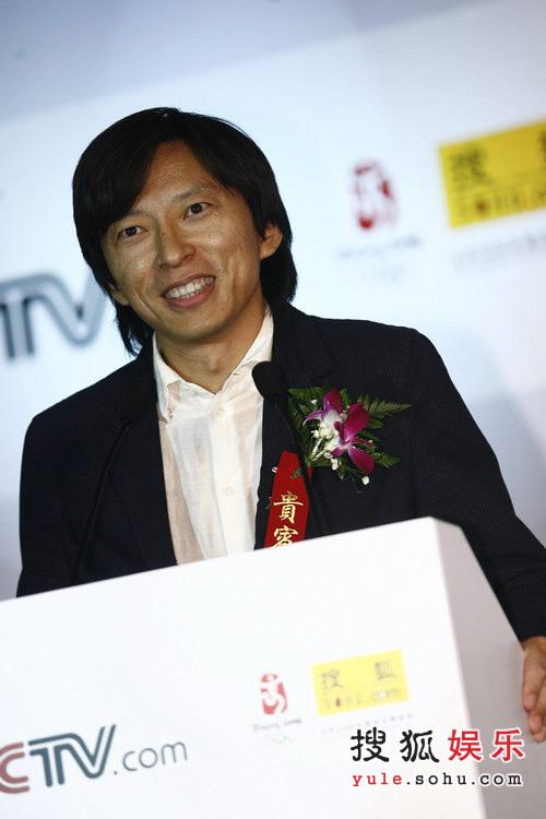 图:签署现场-张朝阳发表演讲