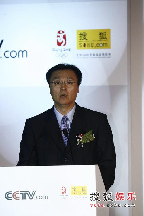 图文:央视国际搜狐签约现场 央视副总编辑程宏