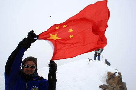 王石登顶杜富尔峰