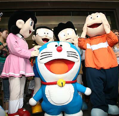 哆啦A梦和它的朋友们 早报记者史训锋图