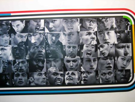 图文:探秘奥林匹克博物馆 著名的运动员墙