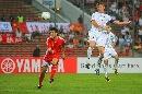 图文:[亚洲杯]中国0-3乌兹 沙茨基赫头球