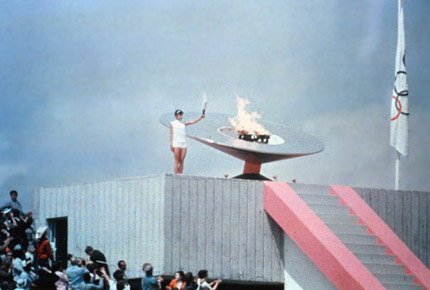 开幕式火炬点燃方式:1968年墨西哥城奥运会