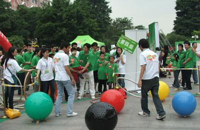 图文:民间奥运北京赛区海选 家庭将获奥运门票