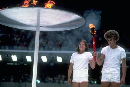 开幕式火炬点燃方式:1976年蒙特利尔奥运会