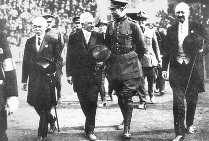 1920年8月14日,安特卫普奥运会开幕式现场