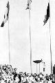 组图:1960年罗马奥运会开幕式 旗帜向观众致意