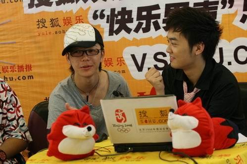 """图:""""可爱弟弟""""王栎鑫做客搜狐"""