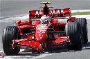 图文:[F1]欧洲站第三次练习 莱科宁试入弯道