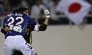 图文:[亚洲杯]日本5-4澳洲 川口中泽庆祝