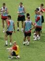 图文:曼联澳门训练 训练非常轻松