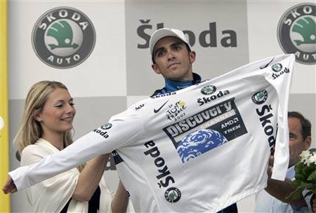 图文:2007环法第14赛段 拉斯姆森再穿白衫