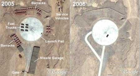 L1发射阵地不同时间卫星影像对比