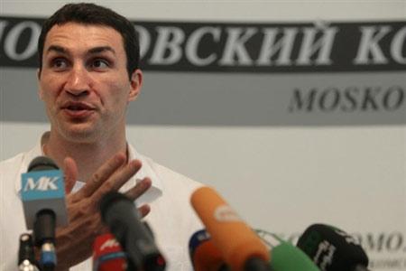 图文:克里琴科记者招待会 畅谈两兄弟拳击事业
