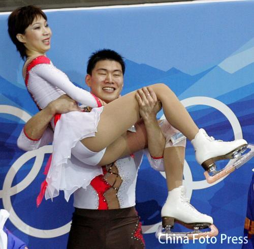 06年都灵张丹/张昊感动中国 获得银牌后庆祝