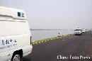 图片:顺义奥林匹克水上公园完工 巡逻的救护车