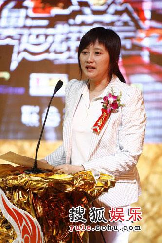 图:奥运群英会北京发布会--搜狐联席总裁兼首席财务官余楚媛