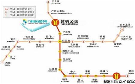 广州锦汉展览中心地图