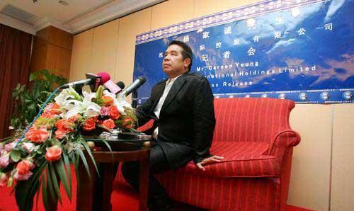 杨嘉诚在接受采访时肯定要引进中国球员