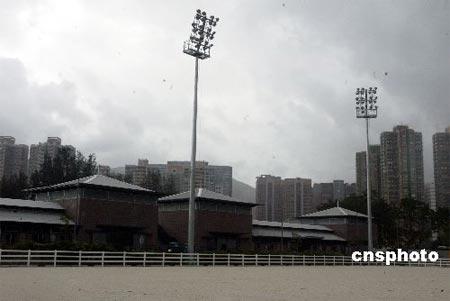 图文:香港2008年奥运马术比赛场地 灯光设施