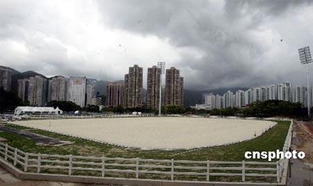 图文:香港2008年奥运马术比赛场地 赛场全景图