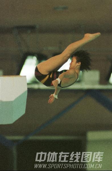 图文:1988年24届汉城奥运会 许艳梅高台跳水三
