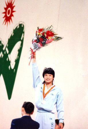 图文:1990年北京亚运会 许艳梅获十米跳台金牌