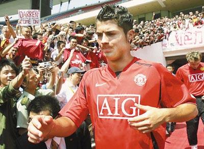 C罗依旧是曼联人气最高球星