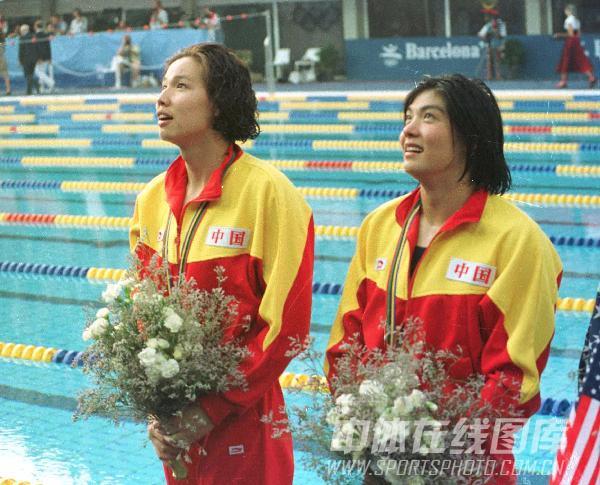图文:92年巴塞罗那奥运会 庄泳获女子百米金牌