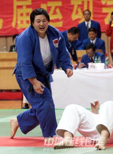 图文:2001年九运会 名将孙福明以一本轻松获胜