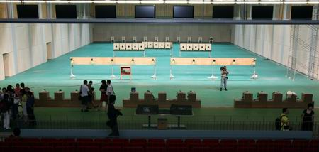 图文:北京射击馆正式交付 射击馆决赛场地
