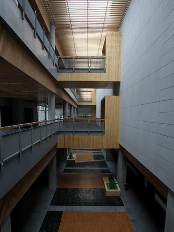 图文:北京射击馆正式交付 贯通三层的内部中庭