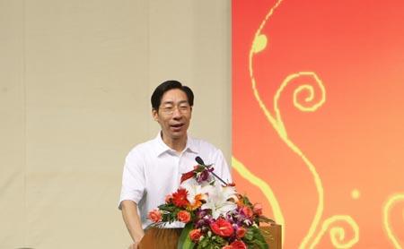 图文:北京射击馆验收交付仪式 冯建中发言